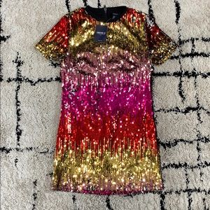 Forever 21 Sequin Multicolored Mini Dress